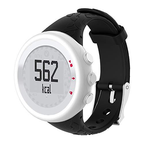 Aubess für Suunto Quest Armband-Set, Silikon-Armband, kompatibel mit Suunto Quest M1/M2/M4/M5/M Serie Uhrenarmband für Damen, Schwarz