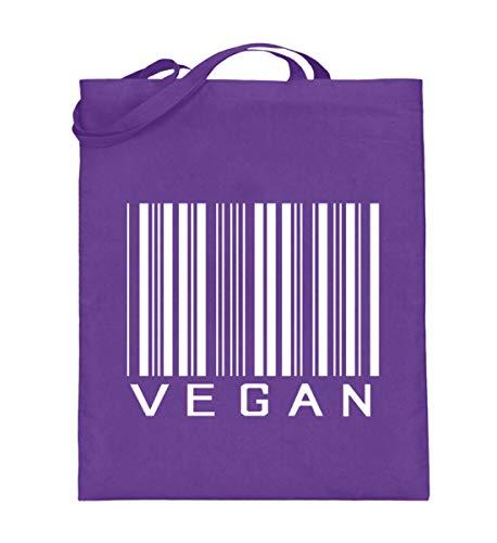 Vegan Barcode, Shirts & Accessoires - Jutebeutel (mit langen Henkeln) -38cm-42cm-Violett