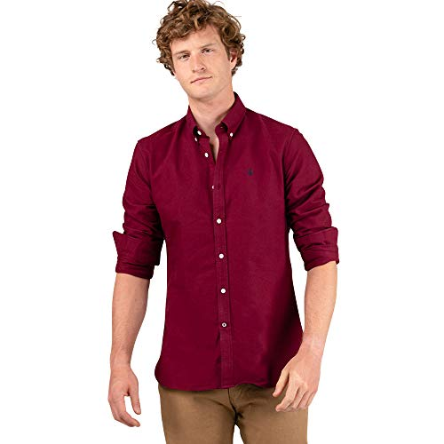 El Ganso 1 Camisa casual, Rojo (Granate 0048), X-Large para Hombre