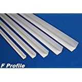 2 Meter PVC Winkelleiste Kunststoff Außenecke stoßfest diverse Größen, F Profile, Maße:50x50mm - F23