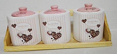 Barattoli per tè, caffè, zucchero, Contenitore per pane, barattoli ...