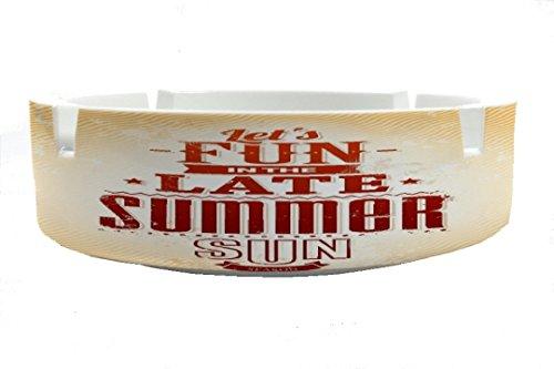 Aschenbecher Rund Jahreszeiten Sommer Sonne Spaß Ascher (Aschenbecher Sonne)