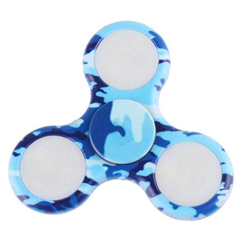 Preisvergleich Produktbild Hand Fidget Spinner LED Lichter Fidget Hand Spinner Spielzeug blinkt EDC Anti-Stress Fidget Finger Spielzeug leuchten ADD Angst Langeweile (Blau)