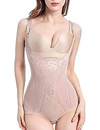 Ceestyle Femme Gaine Amincissante Body Gainant Ventre Plat Lingerie Gainante  Minceur Combinaisons Sculptantes 08d573c2678