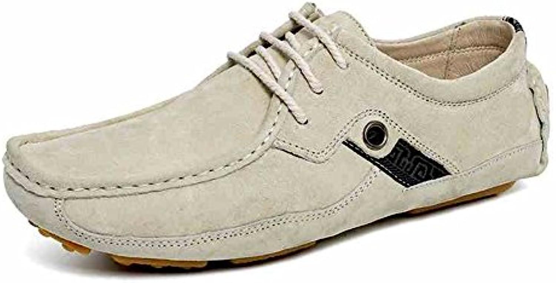 Feifei Zapatos de los Hombres Zapatos de Estilo Británico Helados Cómodos Resistentes Al Desgaste Zapatos Perezosos -