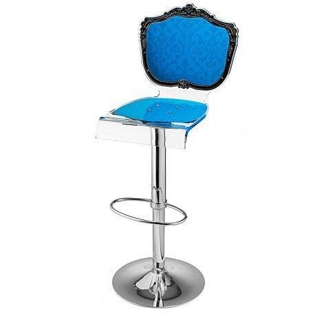 Acrila - Tabouret Baroque Bleu