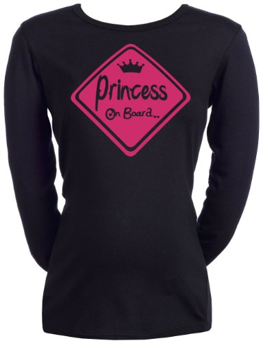 Spoilt Rotten - Princess On Board - Frauen Umstands T-Shirt Schwarz, XXL (Board-mutterschafts-t-shirt)