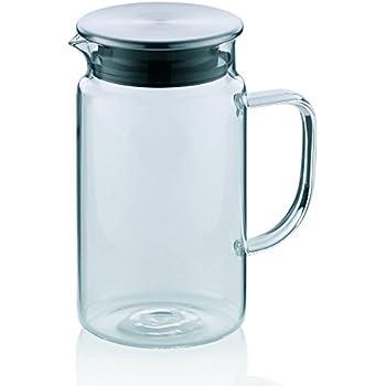 Kela 11395 pichet à boissons froides en verre, couvercle hermétique, contenance 1 litre, Pitcher'