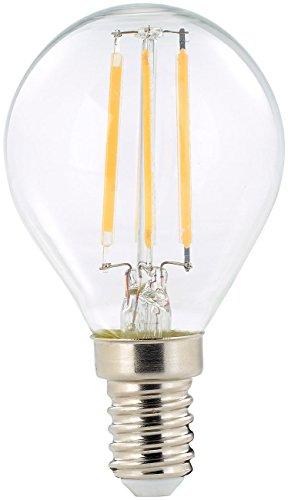 Luminea E14 LED-Filament-Lampen: LED-Filament-Tropfen, G45, E14, 470 lm, 4 W, 360°, warmweiß, 2.700 K (Warmweisse E14 LED-Filament-Lampen) - Nägel Heiße