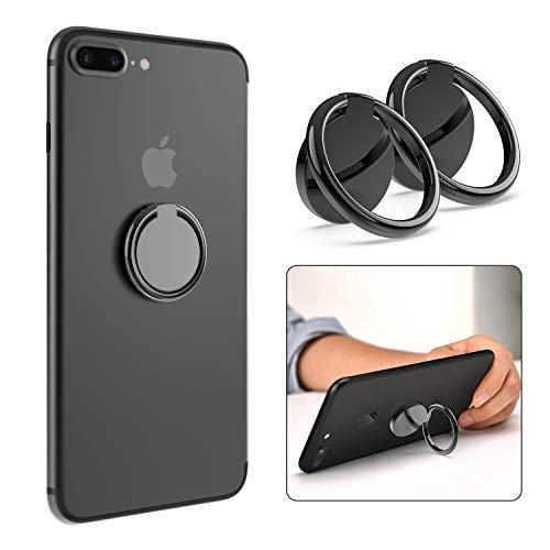 Ossky 2X Handy Halter Finger Handy Phone Ring Halterung 360 Grad Drehung Smartphone Fingerhalter Handyhalterung Kickstand Ringhalter Ständer für iPhone 11/iPad/Samsung/Huawei alle Android Smartphone
