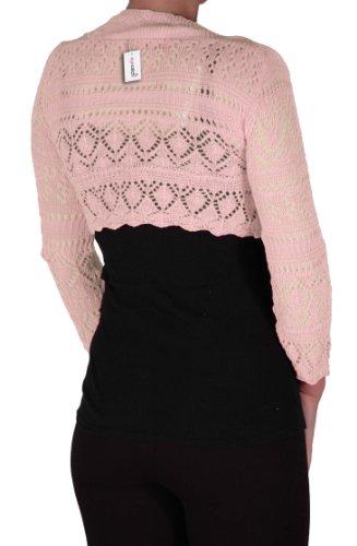 EyeCatch - Lilly Au Crochet Tricoté Haussement D'Épaules Crème