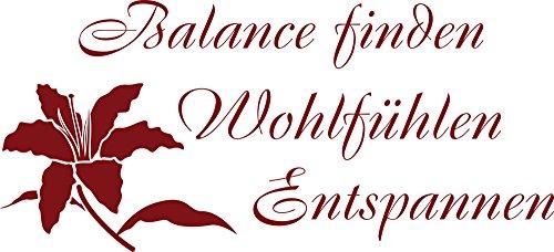 graz-design 'Wandtattoo Deko für die Badezimmer Blume Spruch Balance
