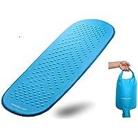 Isomatte selbstaufblasend, Selbstaufblasbare Luftmatratze mit beigefügtem Aufpumpbeutel, handliche leichtgewichtige aufrollbare Matratze auf Schaumbasis mit exzellenter Isolation