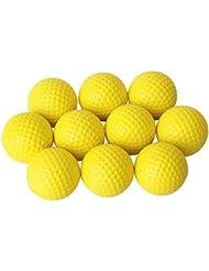 Pixnor Balles de mousse souple 10pcs simili cuir Golf Ball formation pratique