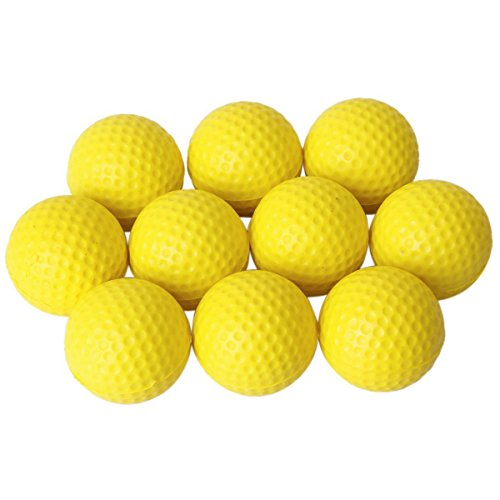 Pixnor Balles de mousse souple 10pcs simili cuir Golf Ball formation pratique