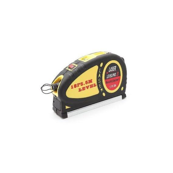 Skywalk 5Mw Laser Level+ Spirit Level + 5.5M 18F Retractable Measuring Tape Multi Function Tool,Laser Level With Tape Measure Pro (550cm)