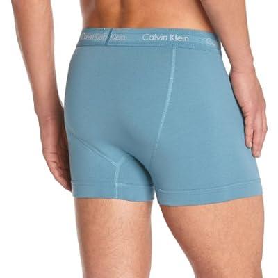 Calvin Klein Men's COTTON STRETCH - 3P TRUNK No Y-front Plain Reverse Collar Boxer Shorts