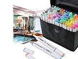 80color Set Touch nuevo 6Alcohol arte gráfico Twin Tip Pen marcador diseño de arquitectura.