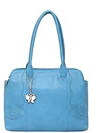 Butterflies Women Handbag (Sky Blue) (BNS 0638SBL)