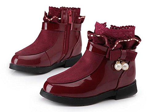 Ohmais Enfants Fille Chaussure bottes et bottines Bordeaux