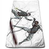Escrime Sports Super Doux Polyester Visage Absorbant Serviette De Beauté Serviettes en Tissu Chiffon 30X70CM...