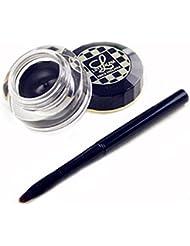 Love Alpha Waterproof Gel Eyeliner Eye Cosmetic with Pencil Brush Tools,black