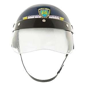 bristol novelty bh391 polizei helm und visier blau one size spielzeug. Black Bedroom Furniture Sets. Home Design Ideas