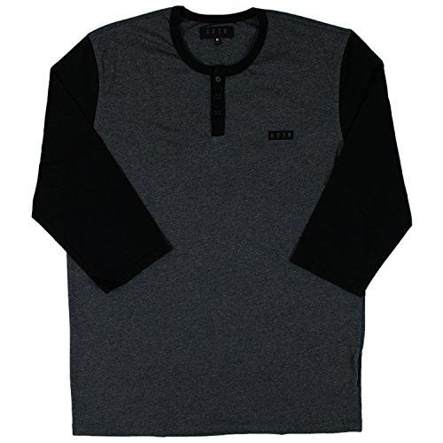 Herren Langarmshirt KR3W Haze T-Shirt Charcoal Heather/Black
