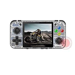 ZW Retro Game, RG350 Videospiel Handspiel-Konsole Mini 64 Bit 3.5 Zoll IPS-Schirm 16G TF-Spiel-Spieler