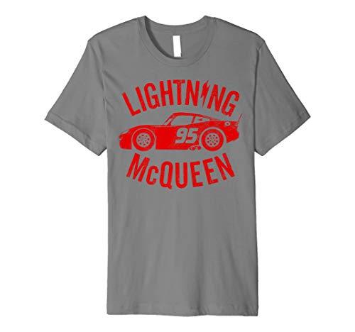 Disney Pixar Cars Lightning McQueen Profile Vintage T-Shirt -