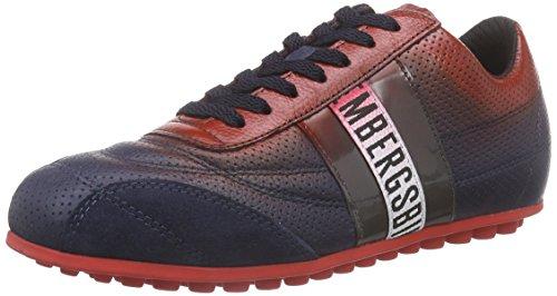 BIKKEMBERGS641024 - Sneaker Unisex - adulto , Rosso (Rot (rot/blau)), 37