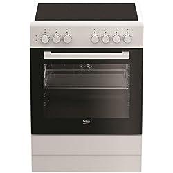Beko CUV61B four et cuisinière Blanc Céramique A - Fours et cuisinières (Cuisinière, Blanc, Rotatif, Blanc, Verre, Metal, En haut devant)