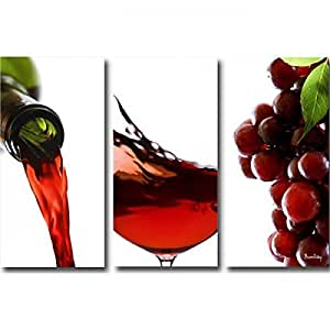 Tableaux Triptyque design Red Wine