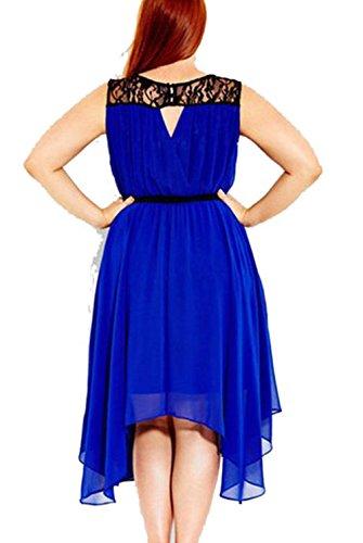 Plus Size-Dame-Sommer-Maxi lange Abend-Partei-Strand-Chiffon- Kleid A