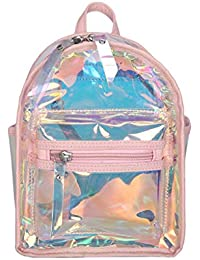 ce7e8892e Luckycat Mochila mini Transparente Bolso Transparente Estuche de Viaje de  Belleza con Bolsillos Externos Organizador para