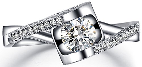 SaySure 18K White Gold Plated AAA+ CZ