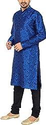 Mens Designer Jacquard Occasional Art Silk Kurta Churidar Set By Royal Kurta