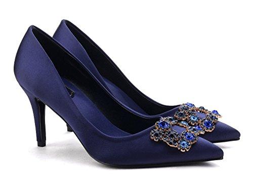 uBeauty - Scarpe da Donna - Scarpe col Tacco - Classiche Scarpe col Tacco Blue