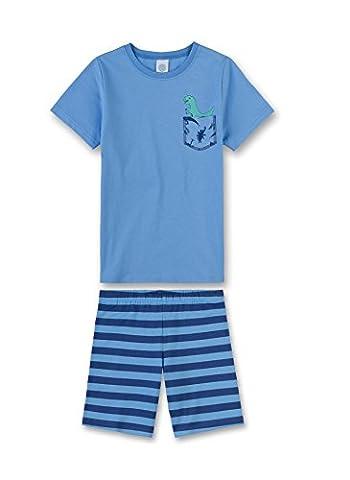 Sanetta Jungen Zweiteiliger Schlafanzug 231957, Gr. 140, Blau (provence 50208)