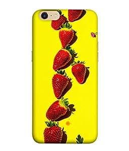 PrintVisa Yummy Straeberries 3D Hard Polycarbonate Designer Back Case Cover for Oppo A39