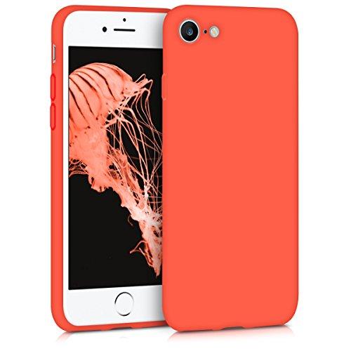 kwmobile Apple iPhone 7/8 Hülle - Handyhülle für Apple iPhone 7/8 - Handy Case in Neon Orange