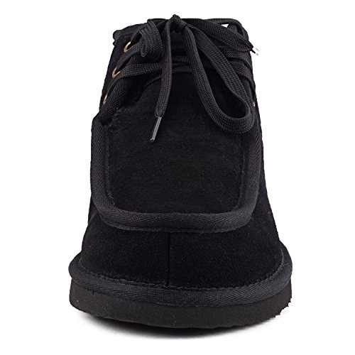 Shenduo Uomo Slip Boots Short Winter Boots In Pelle Stivali Invernali Dad021 Nero