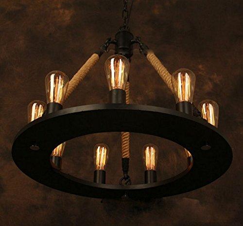 American Style Vintage Lampadario industriale Gowe Edison lampada base in ferro RH Loft Bar Ristorante Cucina Lampada a sospensione