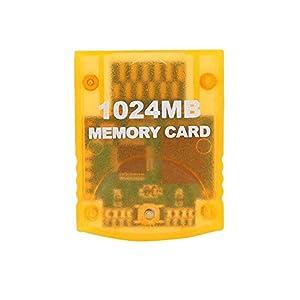 Wendry Speicherkarte, 1024 MB Speicherkarte mit großer Kapazität Spielzubehör für WII Gamecube Game Console…