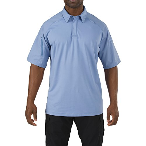 Blau Kurzarm-tactical Shirt (5.11 Herren Rapid Performance Polo Kurzarm Fire Med Blau Größe XS)
