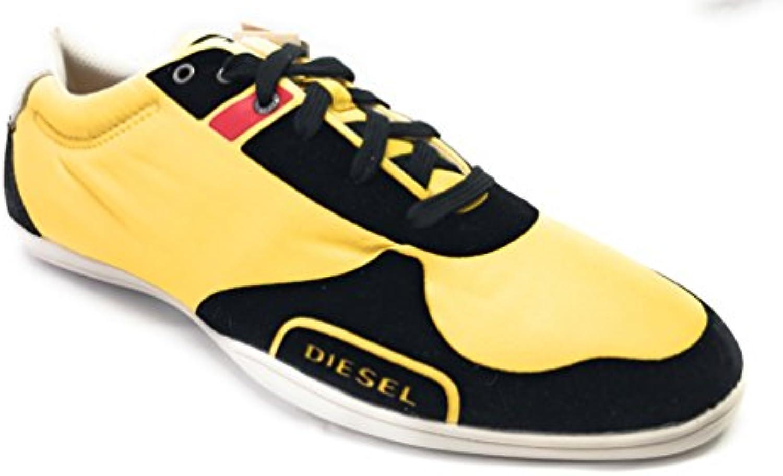 The Bays Faschion Herren Sneaker  Textil  Gelb mit Schwarzen Elementen  Gr. 43