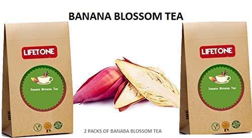 Té de flor de plátano | Suplemento herbario 100% natural | por la paz en la mente | Té delicioso para aliviar el estrés | 40 bolsitas de té