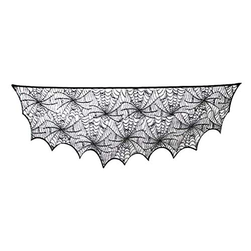 jfhrfged Halloween Dekoration Festliche Party Supplies Lace Spiderweb Kamin Mantel Schal