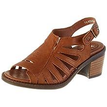 Fly London Women's ZENA586FLY Open Toe Heel Sandals, Brown (Cognac 002), 7 (40 EU)