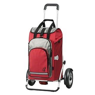 Andersen Shopper Royal Plus mit kugelgelagertem Luftrad 25 cm und 60 Liter Einkaufstasche Hydro rot mit Kühlfach